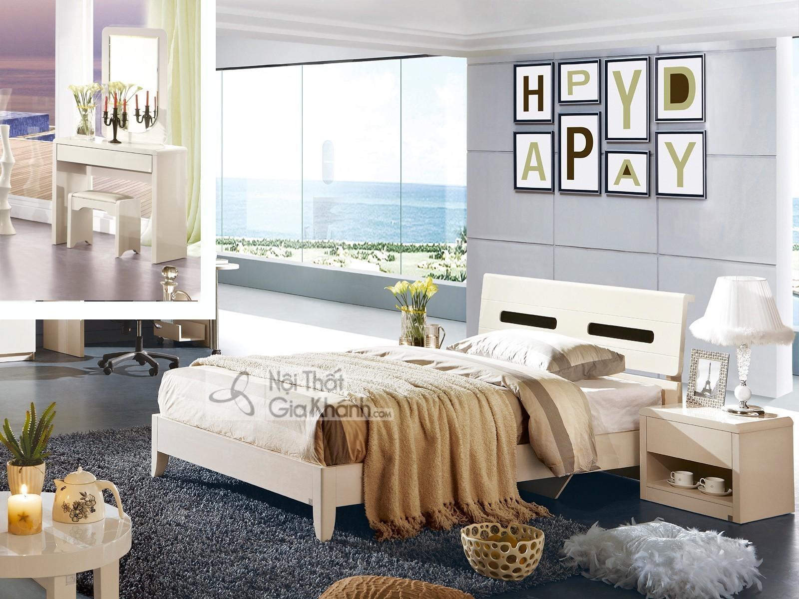Bộ giường ngủ gỗ MDF nhập khẩu cao cấp BN3313-15