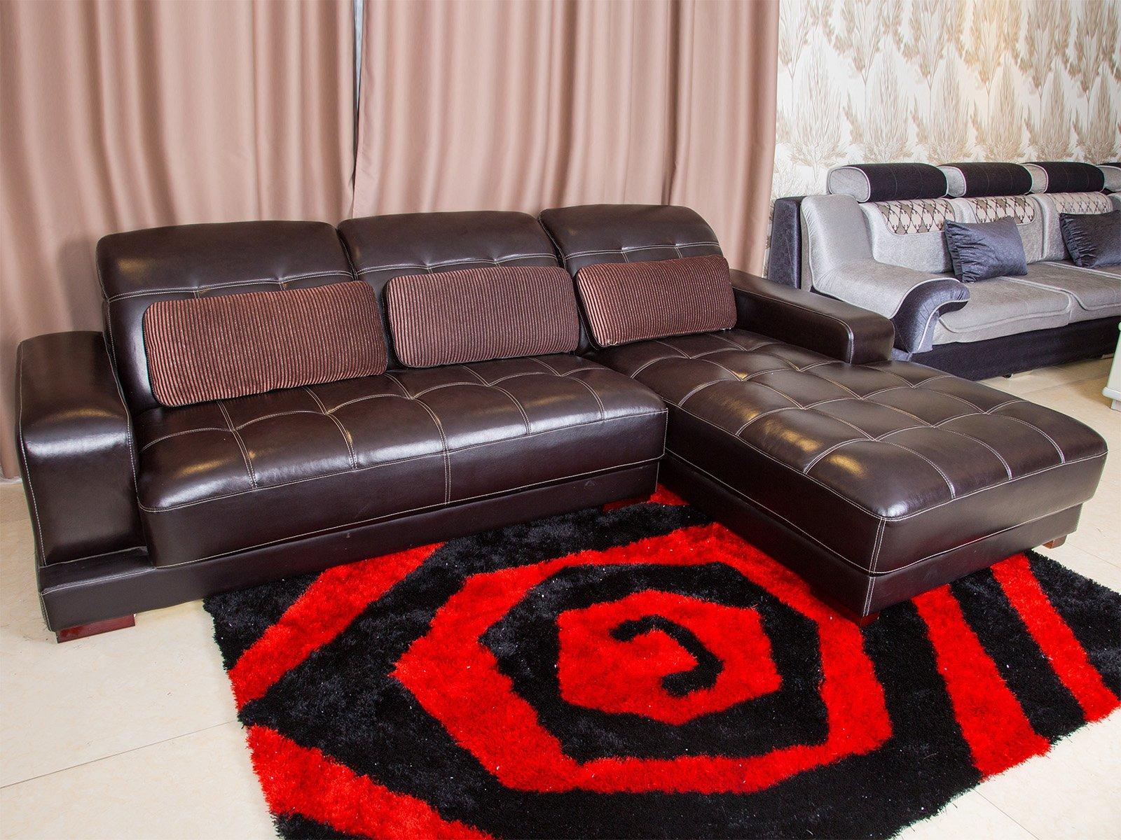 Sofa Da Hiện Đại Góc Trái 2 Băng Mã St0680-2-A1