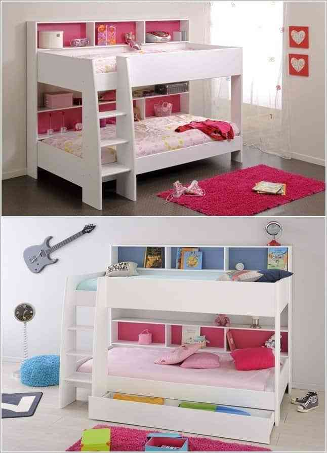 Giải đáp: Có nên mua giường tầng cho bé hay không? - 13 mau giuong kem ban hoc tre em va tu quan ao ket hop ban hoc 9