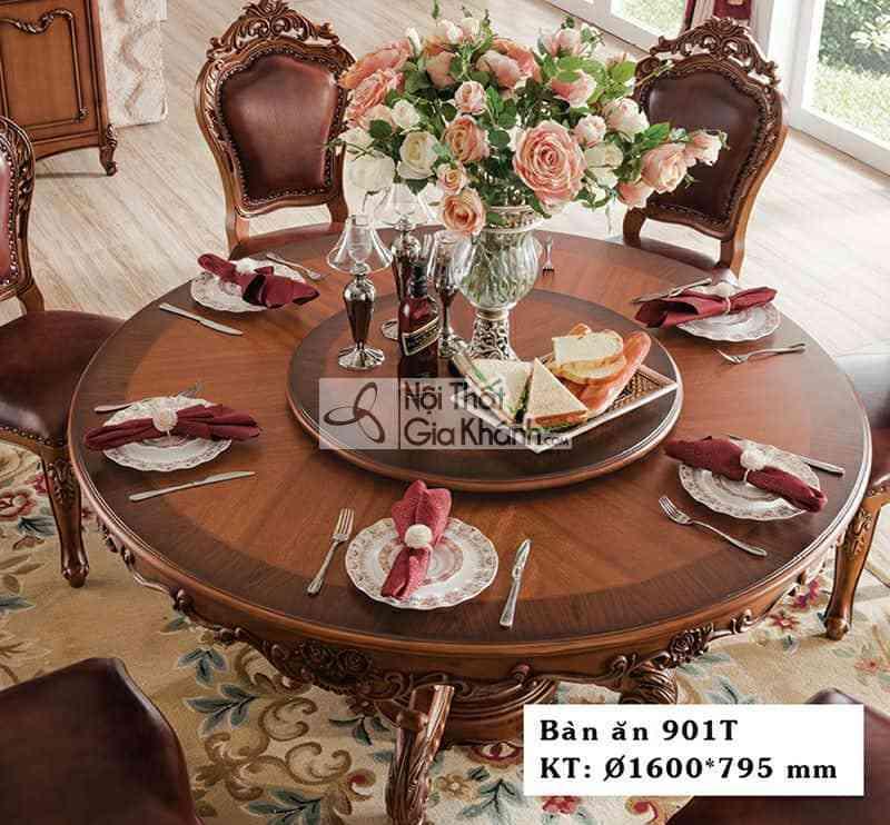 Bàn ăn tròn tân cổ điển gỗ Gõ Đỏ cao cấp 901BA1.6