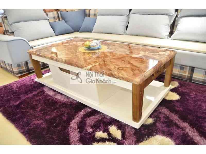 ban tra ban sofa 1m4 mat da chu nhat go phong khach hien dai h827 2 4 - Bàn trà (Bàn Sofa) 1m4 mặt đá chữ nhật gỗ phòng khách hiện đại H827-2