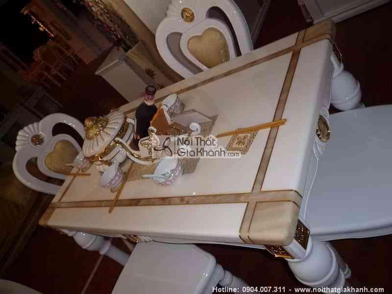 Bàn trà (Bàn Sofa) gỗ sồi tự nhiên mạ vàng mặt đá nhập khẩu KH305SR