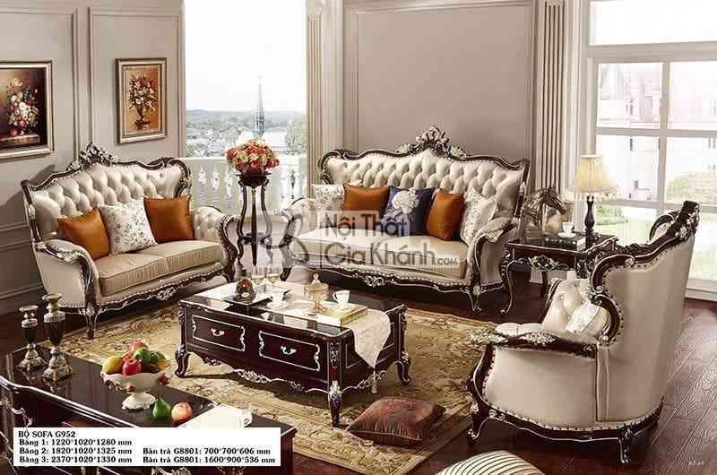 Bàn trà (Bàn Sofa) phòng khách gỗ cao cấp BT8801GG-16