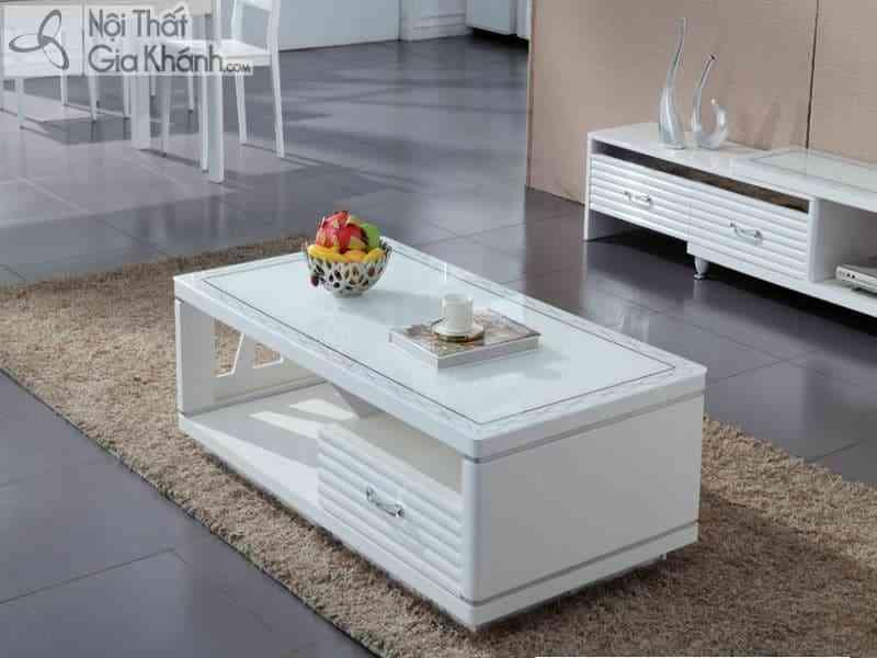 Bàn trà mặt kính trắng HC8005055