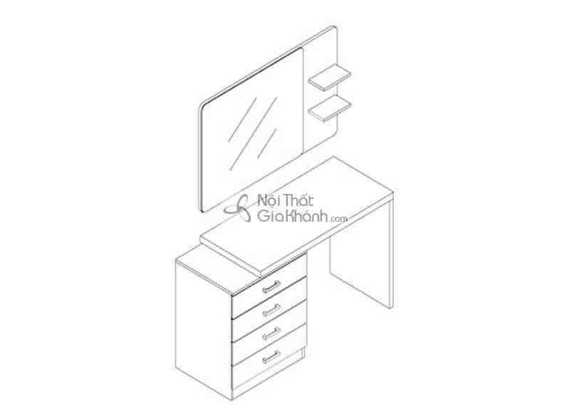Bàn trang điểm nhiều ngăn kéo tiện dụng HĐ220AC