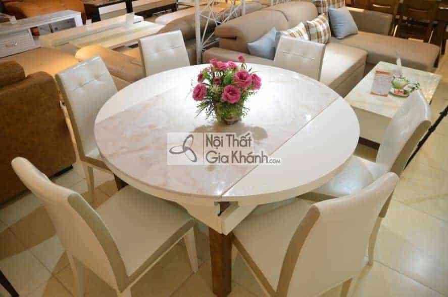 Bộ bàn ăn đa năng 6 ghế kết hợp ghế da HT5753-2BBA