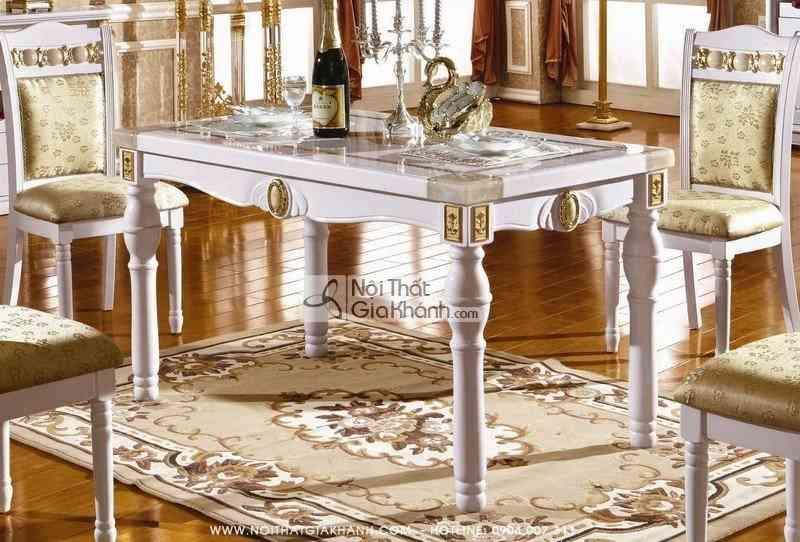 Bộ bàn ăn gỗ mặt đá KH211S