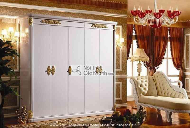 Bộ phòng ngủ gỗ tự nhiên cổ điển Châu Âu KH3030BG