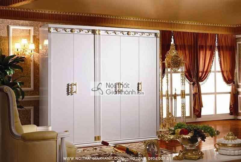 Bộ phòng ngủ gỗ tự nhiên phong cách tân cổ điển Châu Âu KH3026