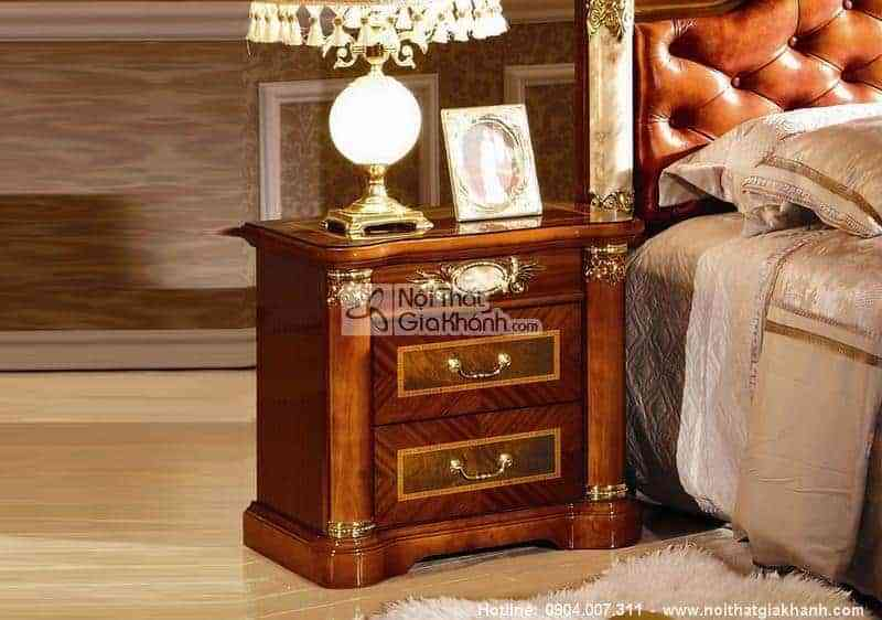 bo phong ngu mang phong cach co dien chau au kh510 3 - Táp đầu giường tiện dụng KH510B