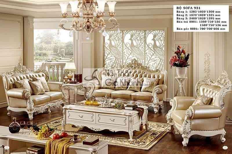 bo sofa tan co dien sang trong cho phong khach h931sf - Bộ sofa tân cổ điển sang trọng cho phòng khách H931SF
