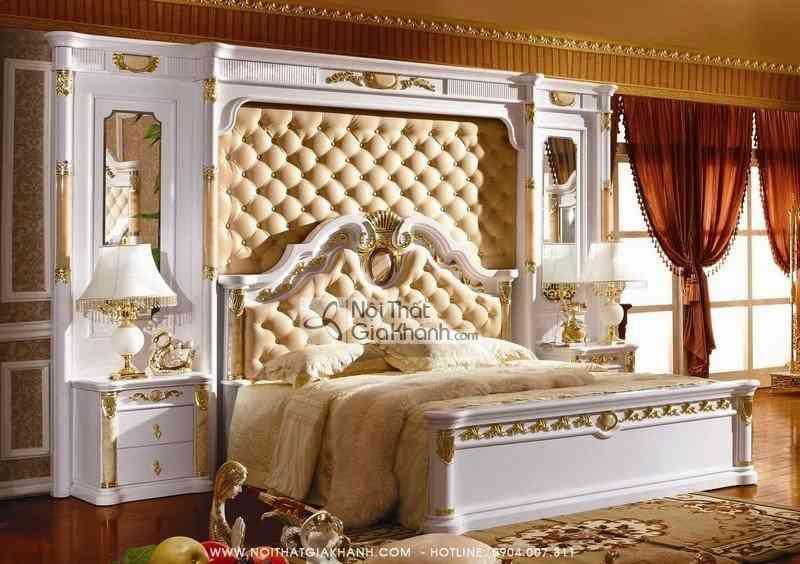 Bình phong đầu giường bọc da đính đá Hồng Ngọc BP3029