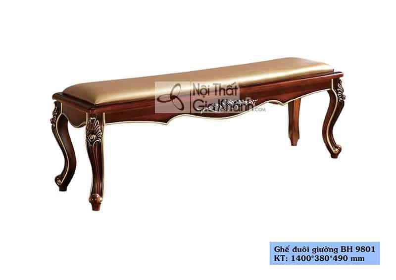 Ghế đuôi giường tân cổ điển giá rẻ BH9801ĐG