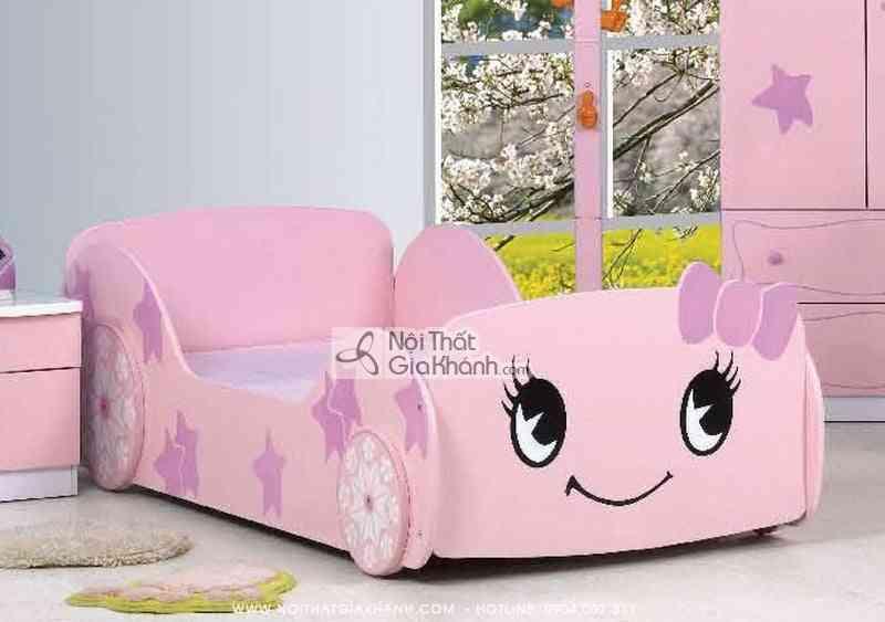 Giường hình xe nơ hồng E2122