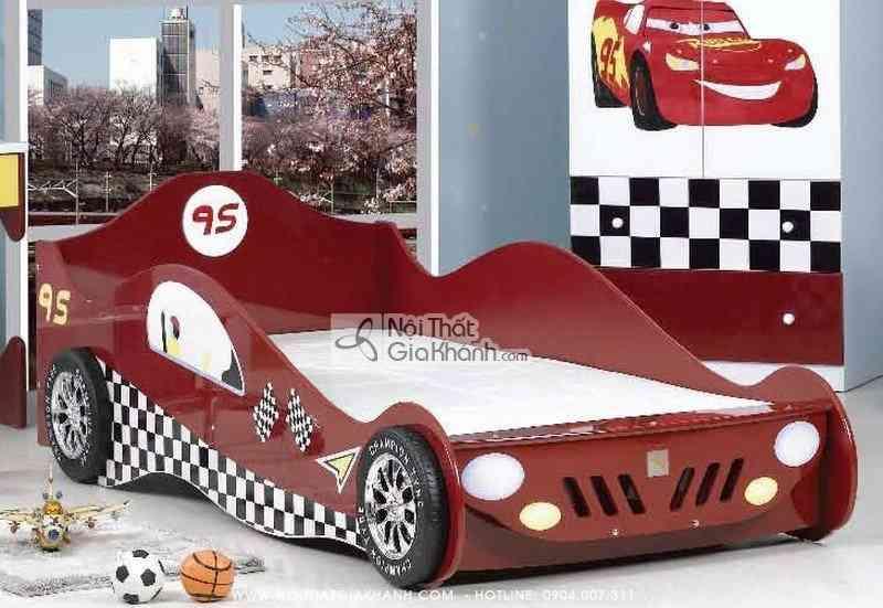 Giường hình xe ô tô gỗ ép E522