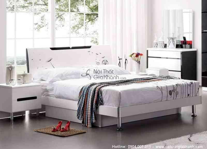 Giường hộp gỗ 1m5 cao cấp nhập khẩu HĐ201S
