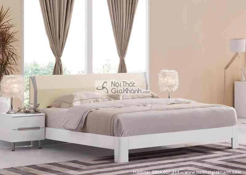 Bộ phòng ngủ màu kem ấm áp HĐ220ABG - giuong ngu 1m5 am ap go cong nghiep hd220as