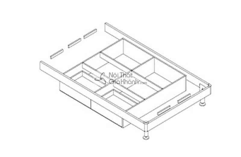 Giường hộp gỗ 1m5 cao cấp nhập khẩu HĐ201S - giuong ngu 1m5 gia re nhat ha noi hd908as 4
