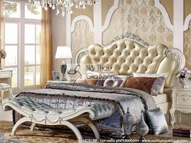 Giường ngủ da nhập khẩu phong cách Pháp H8806AL