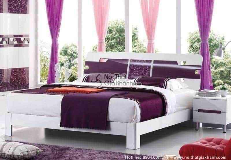 Giường Ngủ Gỗ Công Nghiệp Hiện Đại Lovely 1M5 Nhập Khẩu HĐ217S
