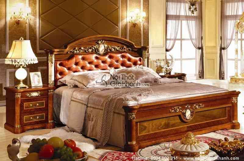 Giường ngủ phong cách cổ điển cao cấp nhập khẩu KH510A