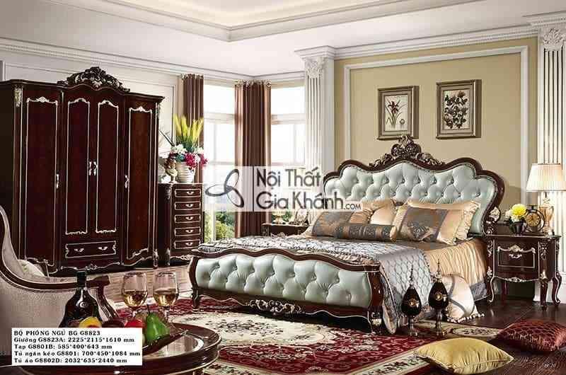 Giường ngủ tân cổ điển sang trọng G8823AL