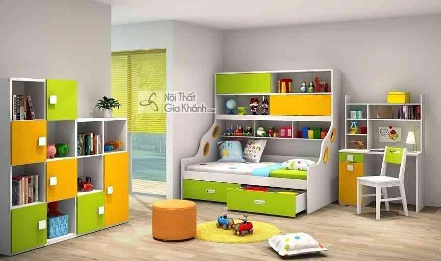 Giường Tomy 2 tầng có giá sách tiện lợi W865 - Y1G1