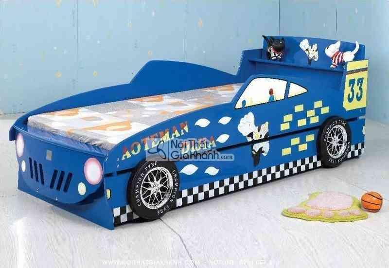 Giường xe ô tô 2 tầng màu xanh A099