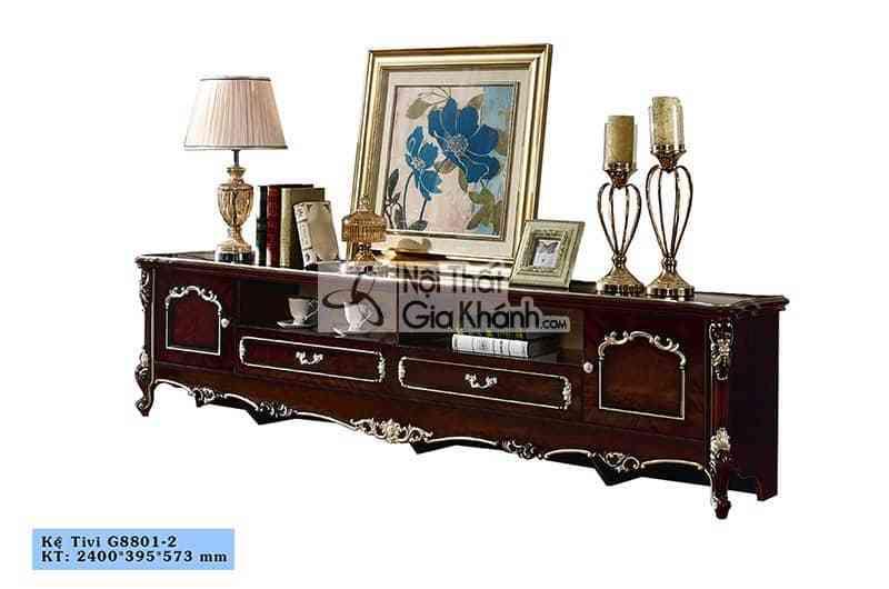 Kệ tivi gỗ sang trọng cho phòng khách KT8801GG-24