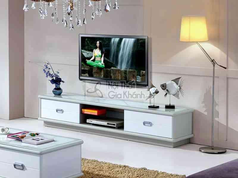 Kệ tivi cho nhà nhỏ hẹp - ke tivi mat kinh co dinh nhap khau y22 1