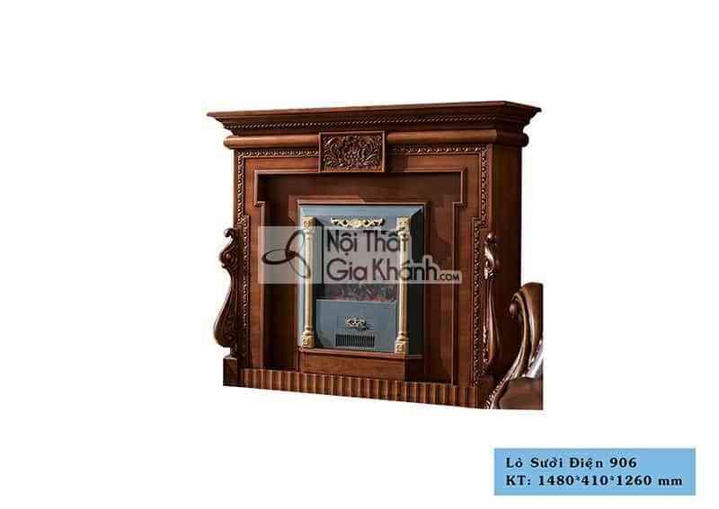 Lò sưởi phong cách tân cổ điển gỗ Gõ Đỏ 906LS