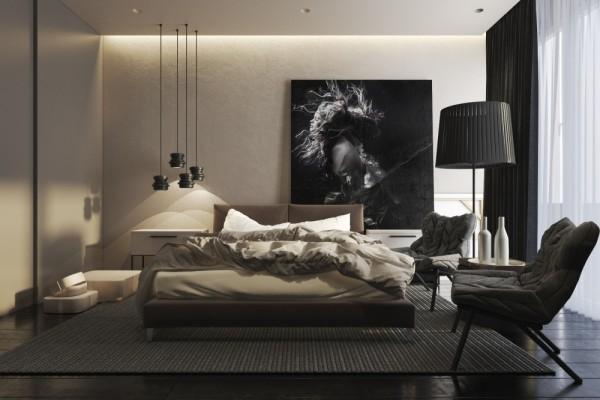 Mẫu thiết kế nhà sáng tạo và quyến rũ với gam màu trung tính - mau nha dep bedroom designs 600x400