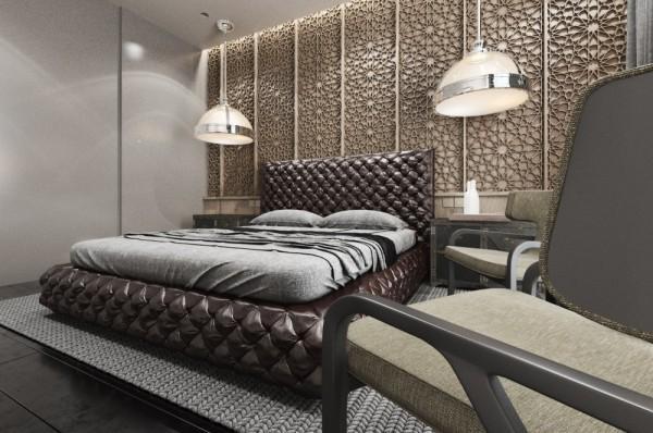 Mẫu thiết kế nhà sáng tạo và quyến rũ với gam màu trung tính - mau nha dep carved wall design 600x398