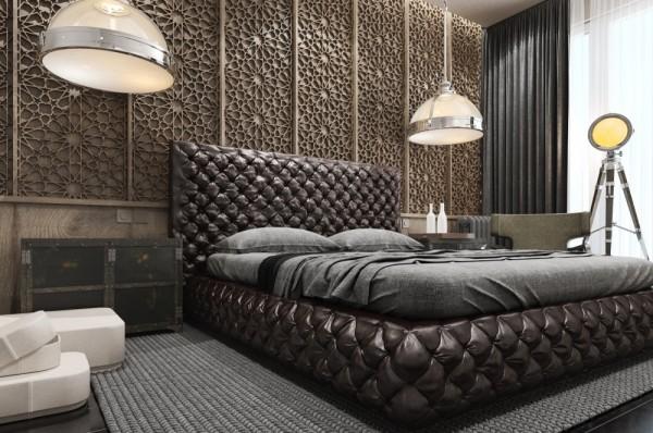 Mẫu thiết kế nhà sáng tạo và quyến rũ với gam màu trung tính - mau nha dep creative carved wall design 600x398