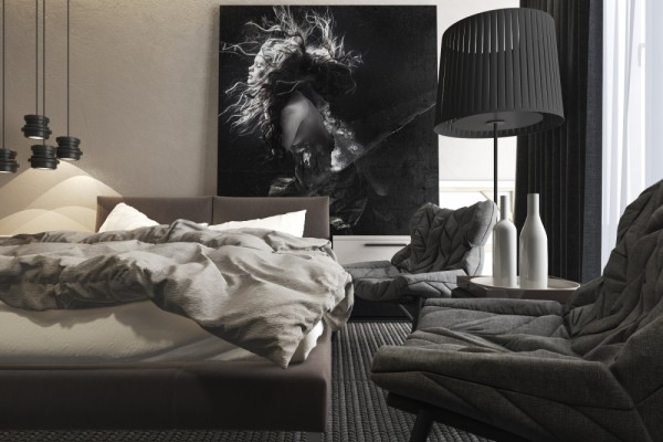 Mẫu thiết kế nhà sáng tạo và quyến rũ với gam màu trung tính - mau nha dep dark gray palette 600x400