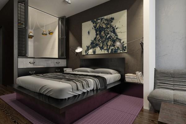 Mẫu thiết kế nhà sáng tạo và quyến rũ với gam màu trung tính - mau nha dep gray and purple 600x400