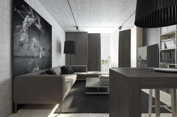 Mẫu thiết kế nhà sáng tạo và quyến rũ với gam màu trung tính - mau nha dep gray and white 600x398