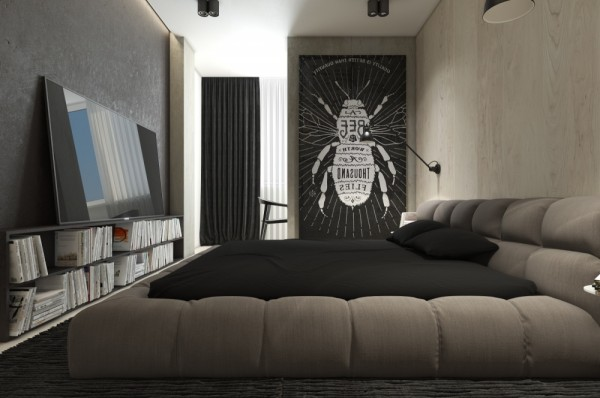 Mẫu thiết kế nhà sáng tạo và quyến rũ với gam màu trung tính - mau nha dep insect inspired art 600x398
