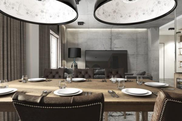 Mẫu thiết kế nhà sáng tạo và quyến rũ với gam màu trung tính - mau nha dep leather dining chairs 600x398