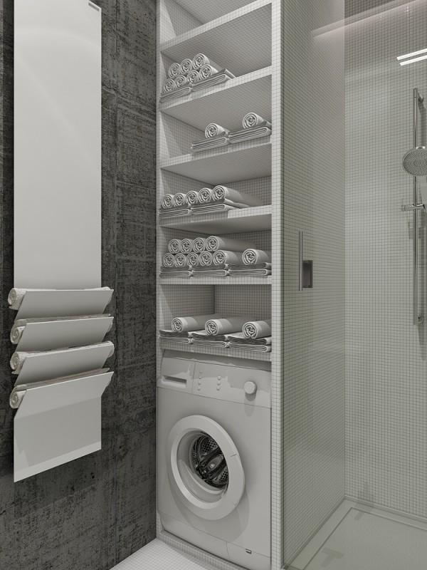 Mẫu thiết kế nhà sáng tạo và quyến rũ với gam màu trung tính - mau nha dep linen closet organization 600x800