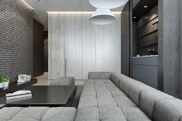 Mẫu thiết kế nhà sáng tạo và quyến rũ với gam màu trung tính - mau nha dep linen upholstered sofa 600x398