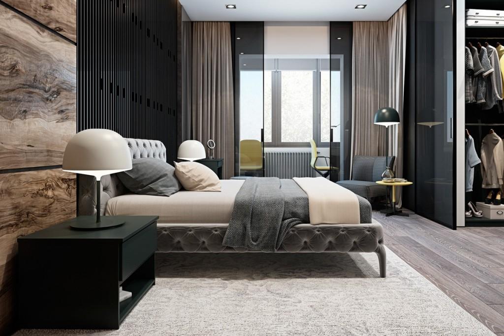 Thiết kế nhà gam màu tối và họa tiết bắt mắt - mau nha dep luxurious bedroom textures 1024x683
