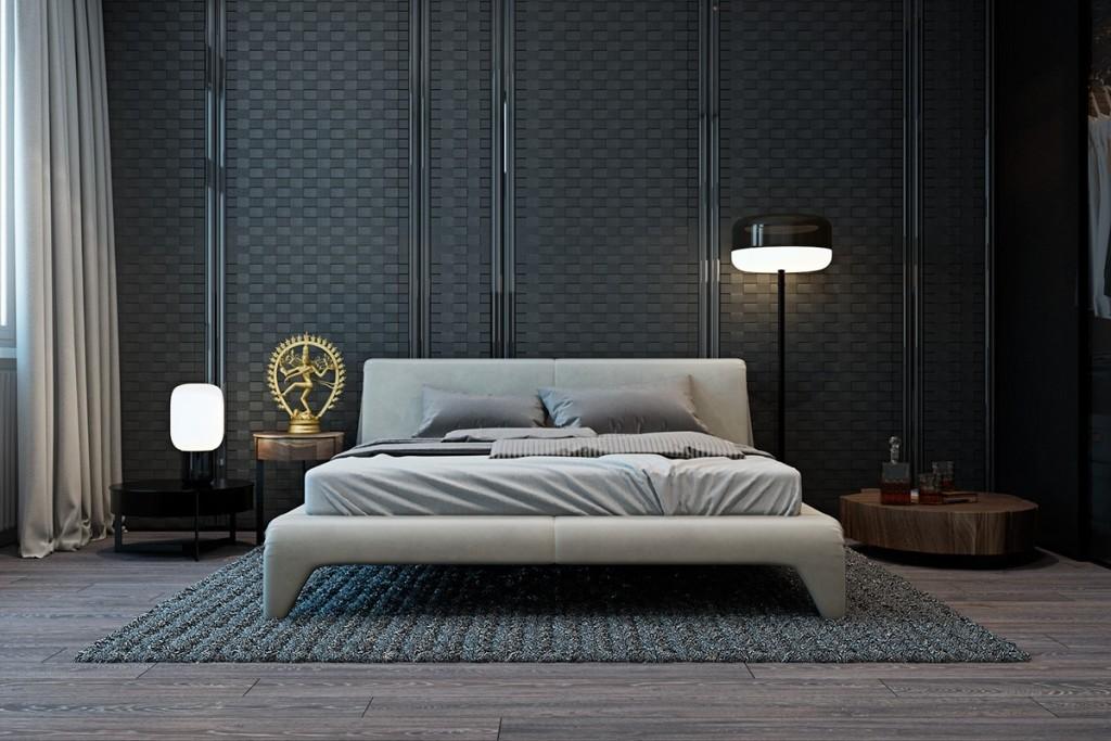 Thiết kế nhà gam màu tối và họa tiết bắt mắt - mau nha dep modern bedroom texture ideas 1024x683