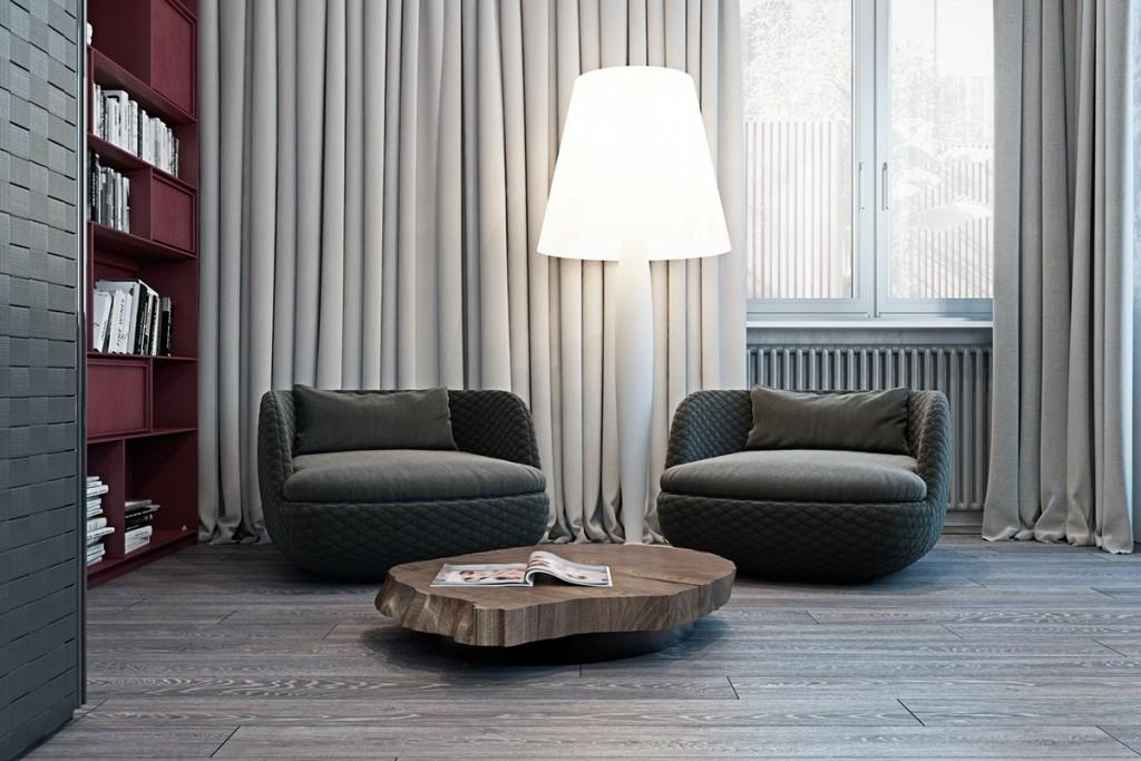 Thiết kế nhà gam màu tối và họa tiết bắt mắt - mau nha dep modern oversized lamp1 1024x683