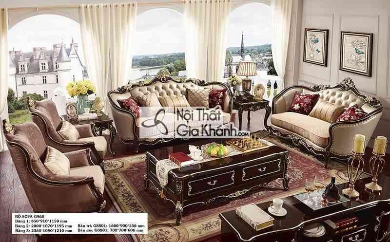 Sofa tân cổ điển đẳng cấp cho phòng khách G968SF