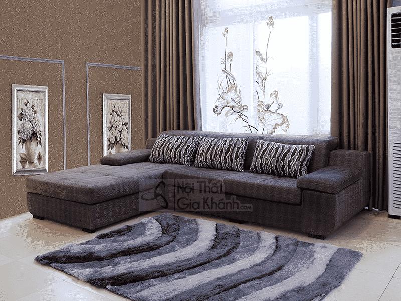 Sofa vải 2 băng góc phải phòng khách 8915