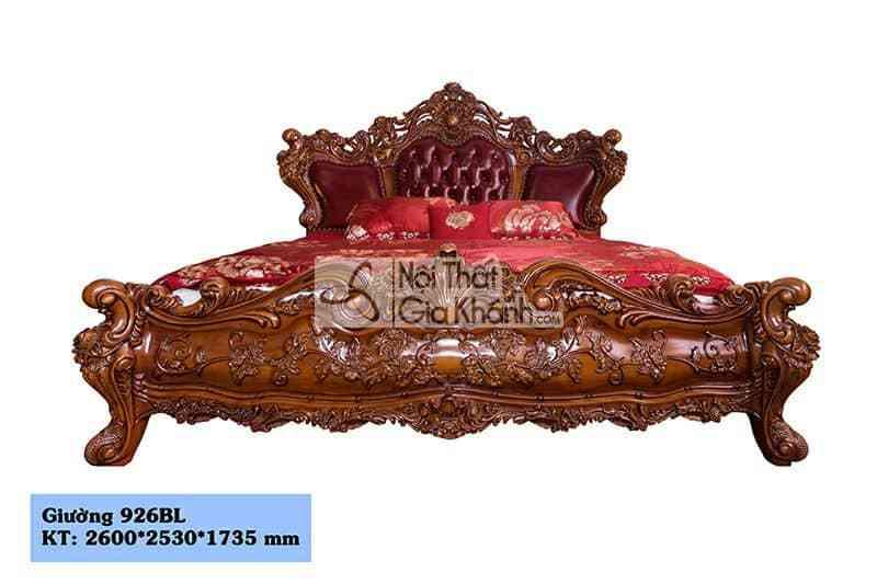 Mẫu Giường Gỗ Gõ Đỏ Tự Nhiên Đẹp Nhất Hà Nội - tab dau giuong go go do cao cap 926b 2