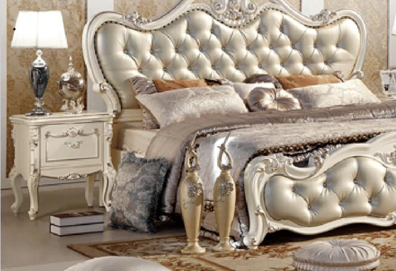 Tab đầu giường màu trắng French White H8801B