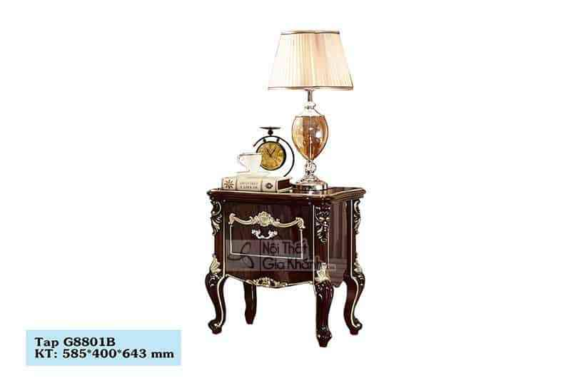 tap dau giuong tan co dien g8801b - Tủ đầu giường gỗ tân cổ điển TA8801G