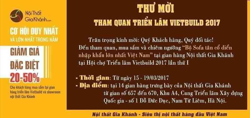 THƯ MỜI TRIỂN LÃM VIETBUILD THÁNG 3/2017